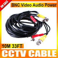 Wholesale 10M FT Audio Video Power Camera Cable BNC RCA CCTV Cable