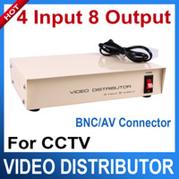 Wholesale 4 Input Output CCTV Video Distributor Video Signal Distributor with BNC AV Connector