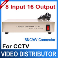 Wholesale 8 Input Output CCTV Video Distributor Video Signal Distributor with BNC AV Connector
