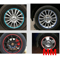 Wholesale Car Tire sticker regal wheel rims stickers luminous hub rims reflective stickers colors
