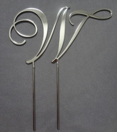 Wholesale mix purchase any cm RCE font Silver high quanlity wedding cake topper monogram cake topper