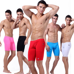 Wholesale Hot Sexy Men s Swimwear Middle Shorts Breathable Swim Trunks Board Shorts Boxers for Men S M L Wangjiang Best quality Cheap Promotion