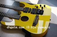 Hollow Body 6 Strings Basswood Custom Shop Gloss Yellow 6 6 Strings Double neck Acoustic electric guitar Combo Electric guitar 2013 New Style Free Shipping