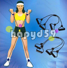 free ship 6pcs X pull rope chest expander resistance band Fitness Equipment Adjustable Can be mixed wholesale