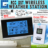 Industrial Temperature Sensor AOK-5018B AOK-5018B Digital Indoor Outdoor Wireless RCC Weather Station Temperature Humidity Remote Sensor Date Radio Controlled Clock DST DCF F C