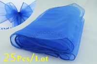 Wholesale Royal blue Organza chair cover sash