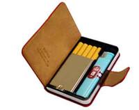 Rectangular   Wholesale - Free shipping cigarette case for 5 cigg pack Cigarette case Smoking set Lady cigarette case