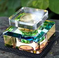 air freshener crystals - 20ml Beautiful Square Perfume Bottle Crystal Car Air Perfume Bottle Custom Car Air Freshener Perfume Oil Bottle