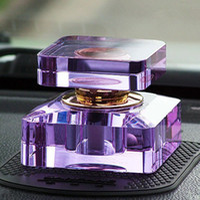 Wholesale 20ml Purple Crystal Perfume Bottle Car Air Freshener Car Fragrance Oil Bottle for Car Accessories Shop