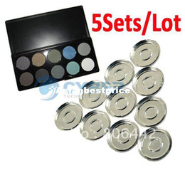 Wholesale 5Sets Grid mm Empty Eyeshadow Palette With Aluminum Pans