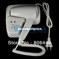 Wholesale Cheap W Wall Mounted Mini Hair Dryer Hair Blower EU Plug White