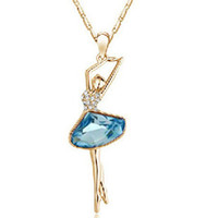 ballet terms - Stock Price For Long Term Partnership Fashion Ballet girl Crystal Necklace