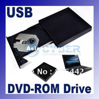Wholesale Black USB External Slim Portable Optical CD DVD ROM Drive For Laptop PC
