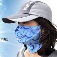 Wholesale 5pcs Plus size Neck care breathable Anti UV Mouth Face Masks Respirator Protection thin dust masks