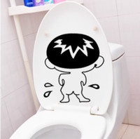 bad boy stickers - 2pcs Creative funny bathroom Toilet Wall Decal Stickers bad boy