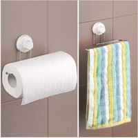 Wholesale Bathroom Suction Cup Sucker Towel Rack towel bar Roll Paper Holder