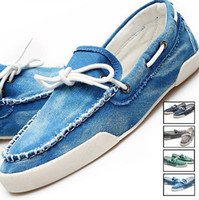 Wholesale Hot Men s Zapato Del Boat Shoes Jeans Canvas Slip On Flats Loafer