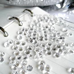 1000pcs = 1 fijaron la decoración blanca de la dispersión de la tabla del favor de la boda del confeti del diamante 1C (6.5mm), fuentes del favor de la boda de la dispersión de la tabla