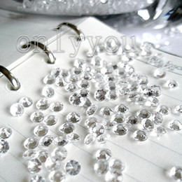 Wholesale 1000pcs Set C mm White diamond confetti wedding favor table scatter Decor table scatter wedding favor supplies