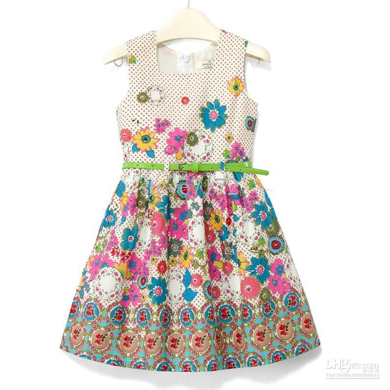 Girls summer dresses baby one piece dress jpg