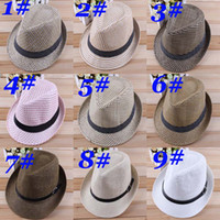 Wholesale Adult Men Straw Hats Headgear Sun Caps Hat Accessories Beach Hats Fit For All Adult Men HC01