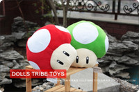 Wholesale 20pcs Super Mario Mushrooms red green Stuffed Dolls Plush Toys quot inch