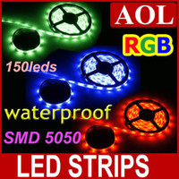 Wholesale 10m SMD LED strip light M leds RGB Multi color Waterproof IP65 LED flat rope light