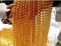 Natural Yellow crystal Round DIY jewelry materials bracelet necklace anklet, natural citrine round gemstone beads 15inch