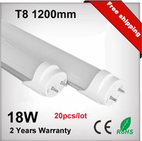 T8 18w SMD2835 T8 18W 1200mm LED Fluorescent Tube Light T8 4 Feet 120cm 1800lm 85-265 VAC White LED Tube Light Bulb Lamp
