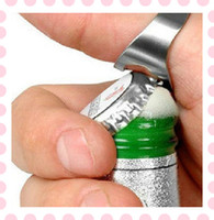Wholesale Stainless Steel Finger Ring Beer Bottle Opener Cute Bar Pub Kitchen Tool Silver
