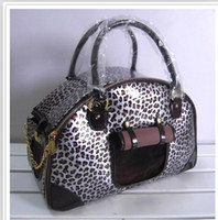 Wholesale Foldable Leopard Dog Bag Pet Travel Bag Dog Carrier Super Quality