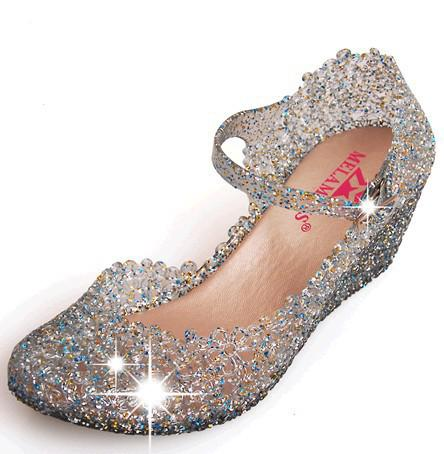 2013 fashion Luxury Jelly shoes Flower hollow sandals for women Summer