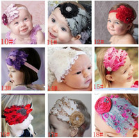Wholesale 10pcs Infant Baby Girl Diamond Feather Headband Child Dance Party Flower Hair Band Head Decoration Christmas Ornaments Kids Headwear Gifts