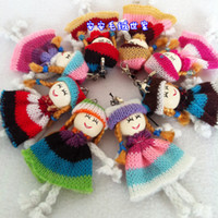Wholesale Colorful Knitting Wool Doll Mobile Strap Lovely Mobile Mobile Lanyard