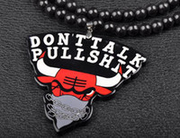 Wholesale 20 off New Arrival Charms Bulls Head pendant Goodwood Acrylic Necklace HipHop Fashion Unisex Jewelry PC