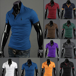 Wholesale New Men Fawn Embroidery With Short sleeves T Shirts