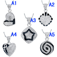 Wholesale Turkey Eyes Lovely Charm Diamond Accent Heart Shape Pendant Necklace Including Sterling Silver Singapore Chain Inch Fashion Jewelry