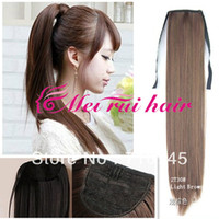 Wholesale fashion ponytails Women s Cute Synthetic Long Straight Ponytail Colors cm about