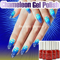 Wholesale Perfect Match MOOD Colors Changing Color Gel Polish Soak Off UV Led Chameleon Nail Gel Polish Color changed by Temperature Difference