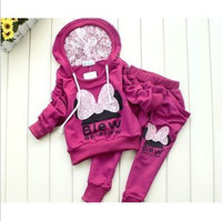 Wholesale 2013Kids girls red cartoon long sleeve suit Hoody sweater stripe skirt suit GIRL clothes set