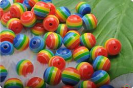 Wholesale - 50Pcs 10MM Colorful Resin Bead & DIY Loose Beads