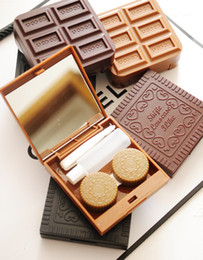 Wholesale Chocolate biscuits contact lenses box lenses double box mate box