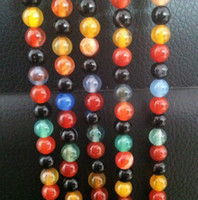 Wholesale New Round Colorful Agate Loose Beads mm