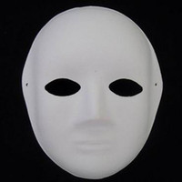 Wholesale Women Paper Mache Plain White Masks DIY Fine Art Painting Masks Net weight g Free