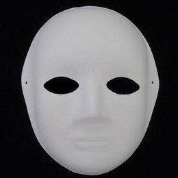 Wholesale Women Paper Mache Plain White Masks DIY Fine Art Painting Masks Net weight g Free