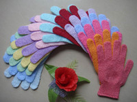 Wholesale Nylon bath gloves exfoliating gloves bath sponge bath mitt Direct Manufacturer