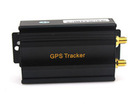 Wholesale Realtime GSM GPRS GPS Car Vehicle Tracker Quad Band Shake Shock Sensor TK103A New Q0071A