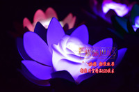 Wholesale Artificial Lotus floating water Flower Colors Changing LED Lotus light wedding supply