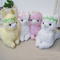 Wholesale Arpakasso Alpaca sheep animal garden department horse wreath plush doll toy inches styles