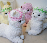 Wholesale 20 inches styles Arpakasso Alpaca sheep animal garden department horse wreath plush doll toy